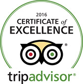 Certificate of Excellence 2016 - trip advisor